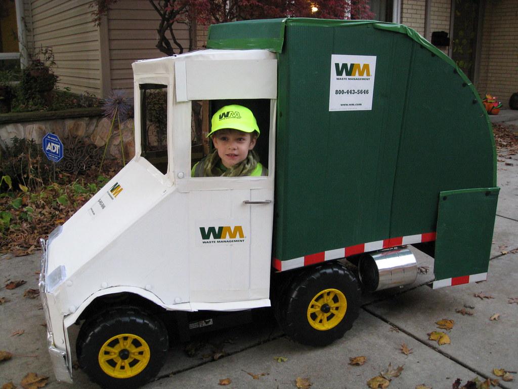 Garbage Truck Power Wheels : Incredible cardboard garbage truck flickr