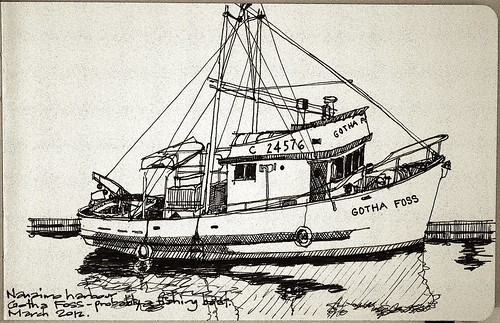 Nanaimo fishing boat quick sketch of a fishing boat in for How to draw a fishing boat