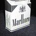 black & white marlboro pack