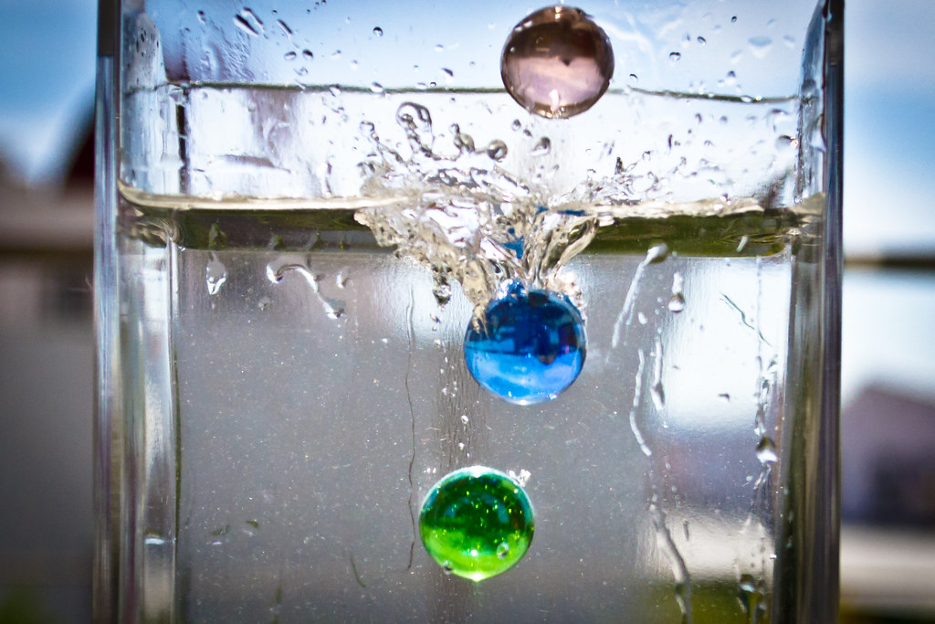 Marbles In A Glass Of Water Javier Morales Flickr