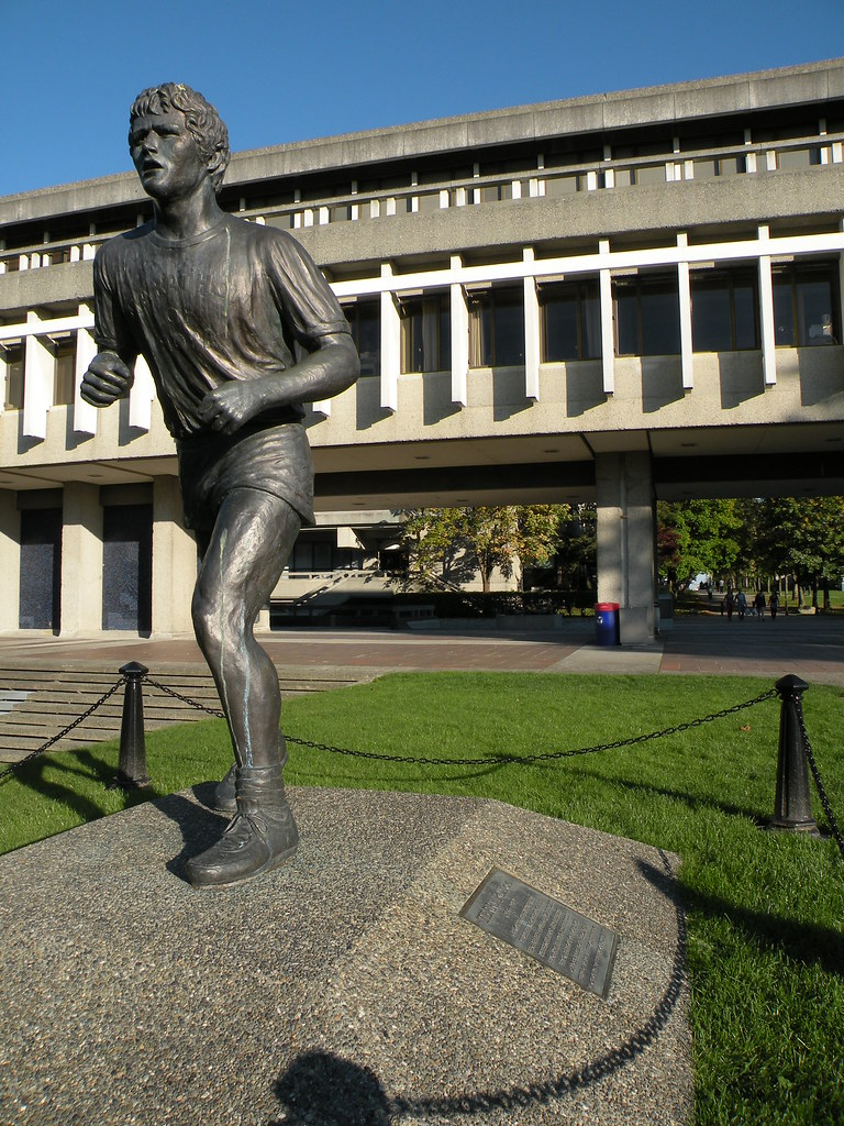 Terry Fox statue, SFU | Groundhopping Canada (and on ... | 768 x 1024 jpeg 573kB