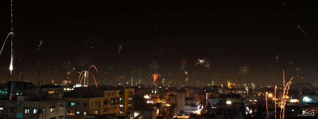 Diwali Night Hyderabad Skyline This Shot Is Taken From
