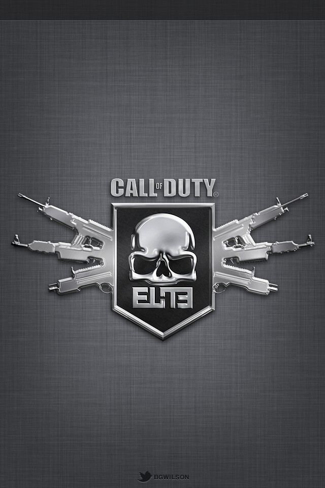 IOS 5 Textured Call Of Duty Elite Wallpaper