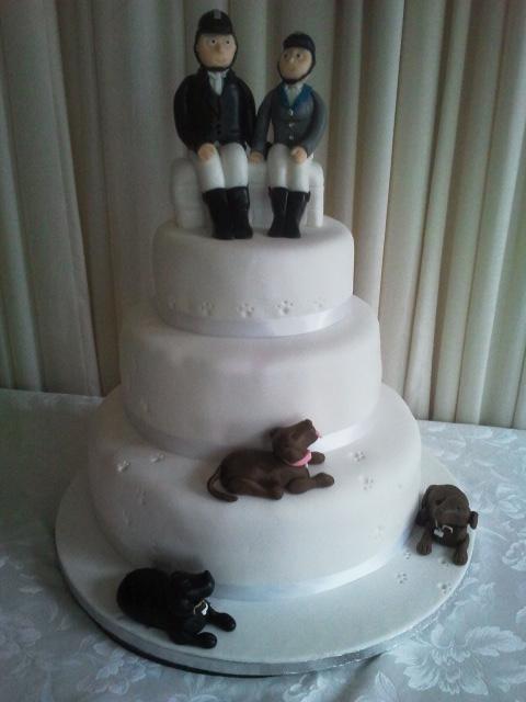 Horse Rider Themed Wedding Cake Sharon Sweeney Flickr