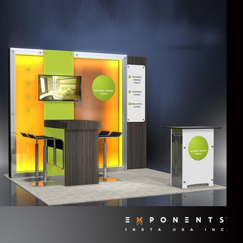 Exhibition Stall Cost : Modular trade show booth display exponents