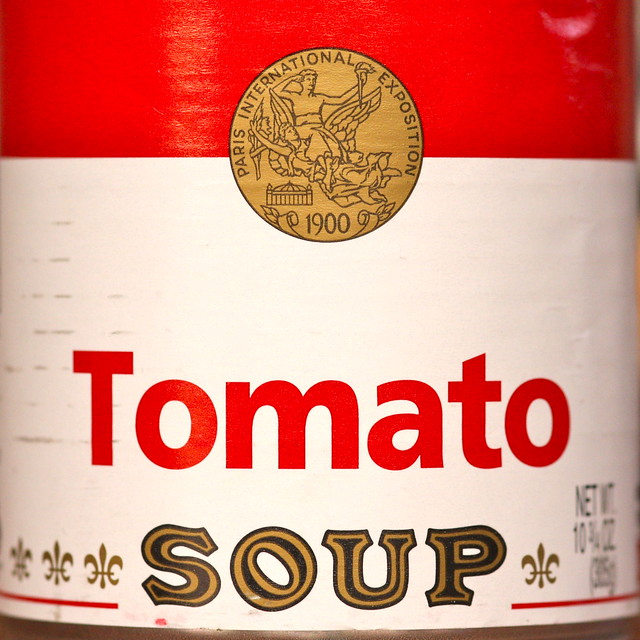 It is a picture of Juicy Soup Can Label Maker