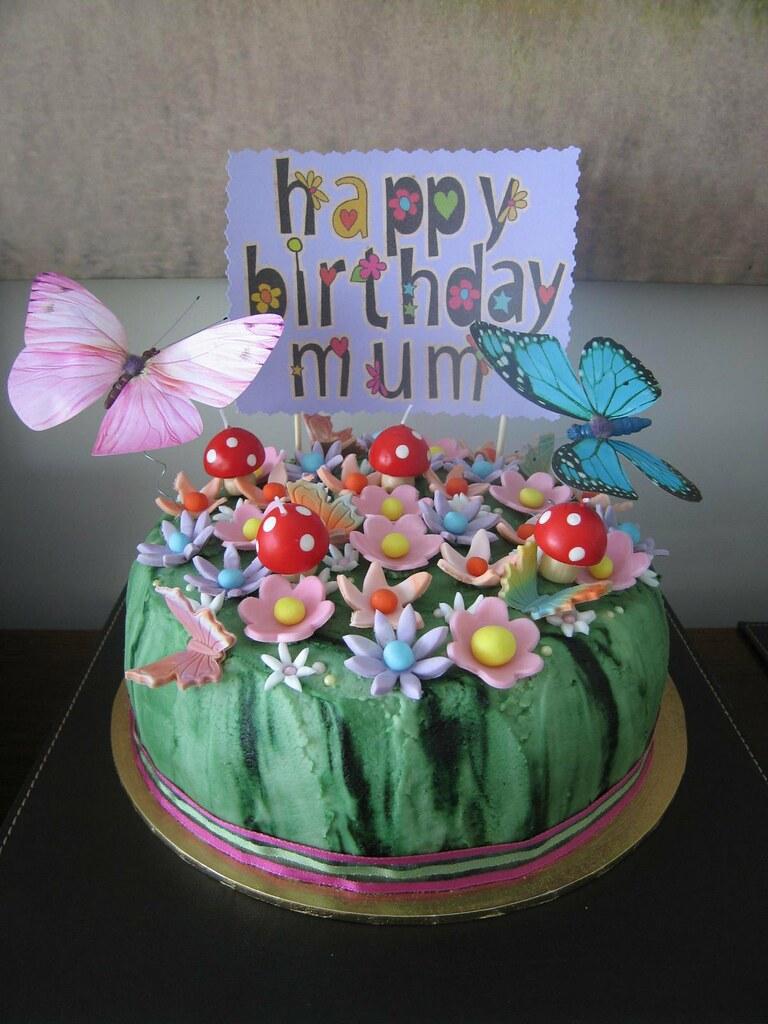 Flower garden birthday cake a lemon lime cake covered with flickr flower garden birthday cake by kiwigirlsteph izmirmasajfo