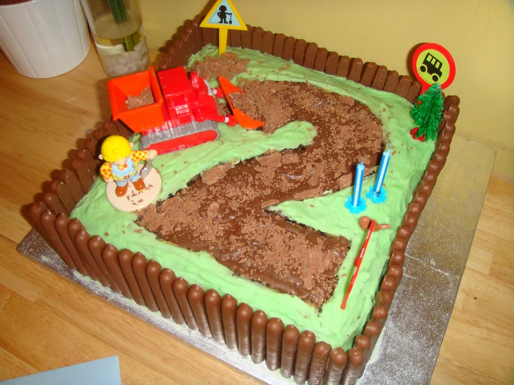 Bob The Builder Cake Bob The Builder 2nd Birthday Cake Us Flickr