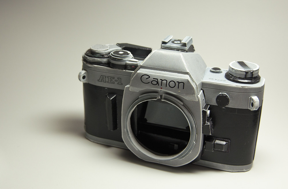 Canon Ae 1 Paper Craft Camera Made From Card Stock Paper 1 Flickr