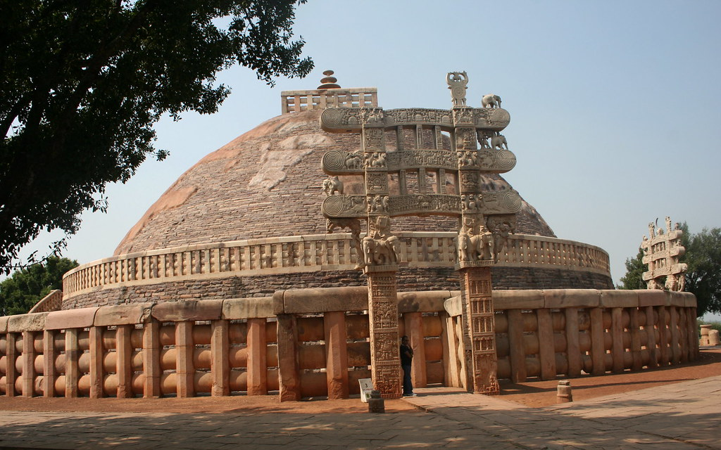 Sanchi Stupa Wallpaper Hd: Great Stupa Of Sanchi (16m High, 37m Dia)