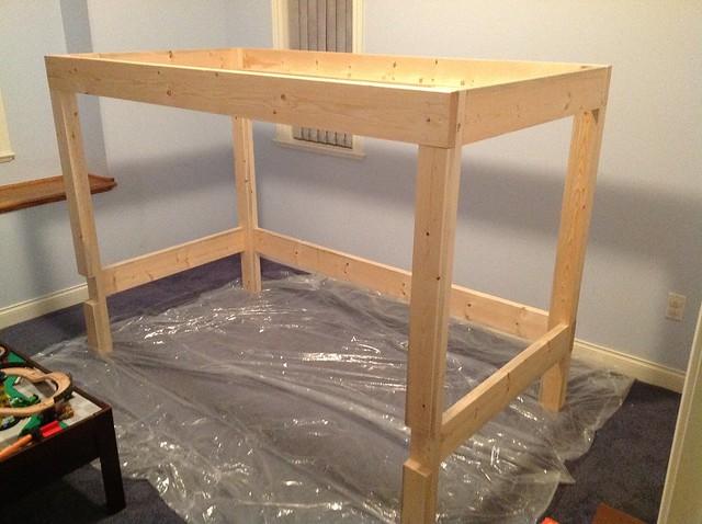 Loft bed frame plans pdf woodworking for Castle bed plans pdf