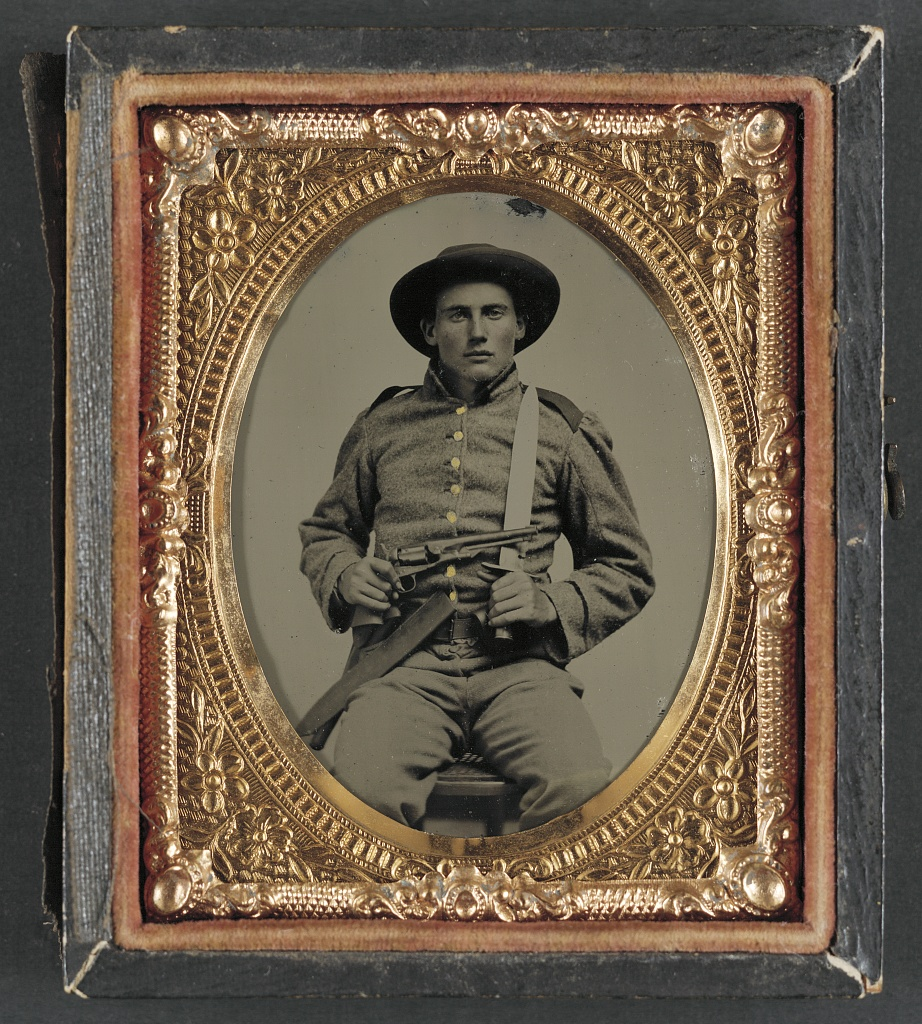 Auctions In Alabama >> [Unidentified soldier in Confederate frock coat and slouch… | Flickr