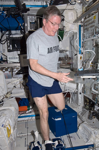Astronaut Mike Fossum Performs Muscle Scan | by NASA Johnson