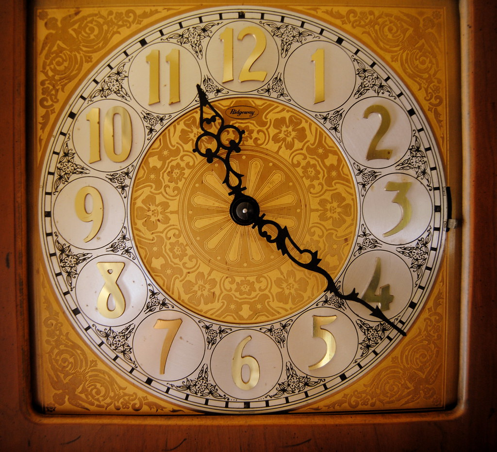 ridgeway grandfather clock dial face closeup ridgeway gr flickr. Black Bedroom Furniture Sets. Home Design Ideas