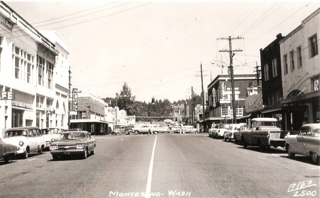 Montesano, WA circa 1961   A view of downtown Montesano, Was…   Flickr