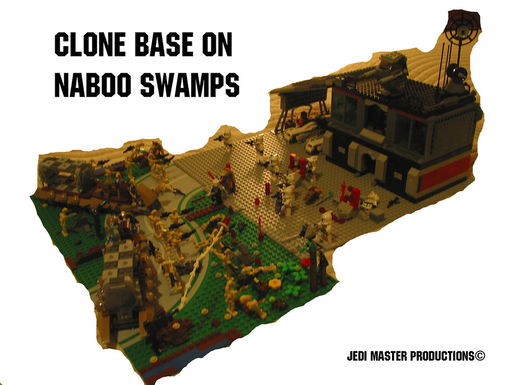 Lego star wars clone base on naboo swamps moc a droid batt flickr - Lego star wars base droide ...