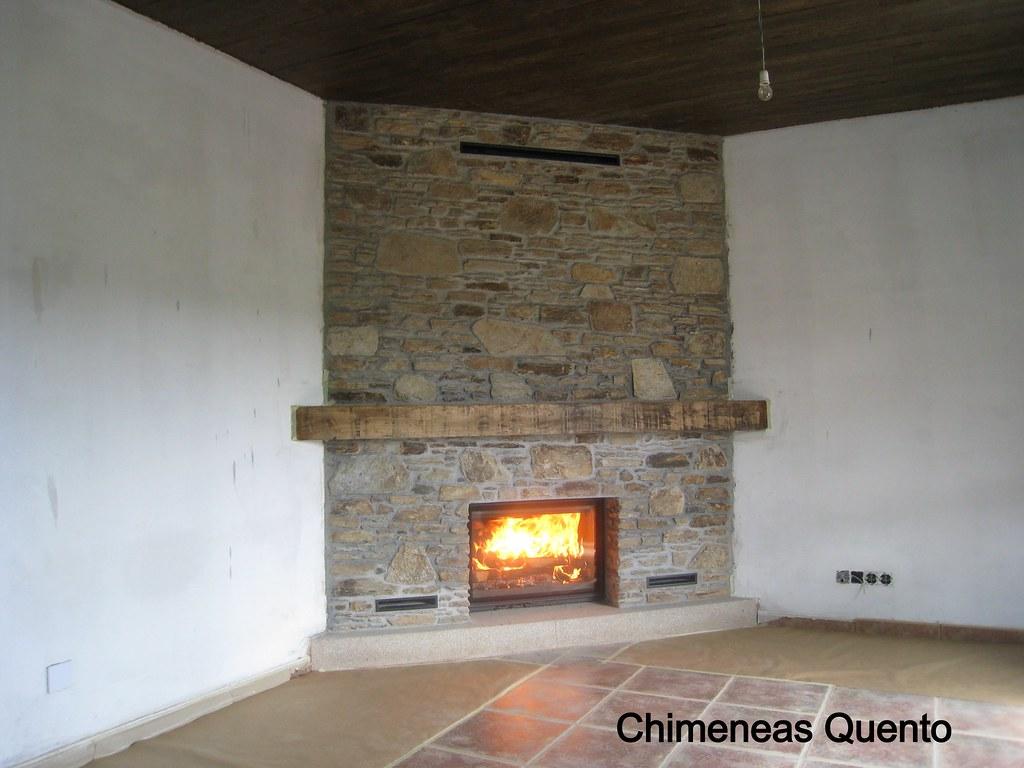 Chimenea dovre 2180 en revestimiento de piedra en taco - Revestimientos de chimeneas rusticas ...