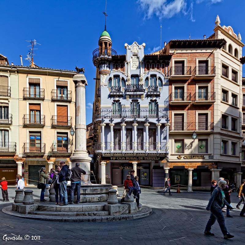 Plaza del torico y casa de los tejidos teruel la plaza de flickr - La casa del cura teruel ...