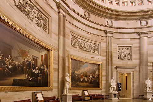 Walls of the U.S. Capitol Rotunda | by USCapitol