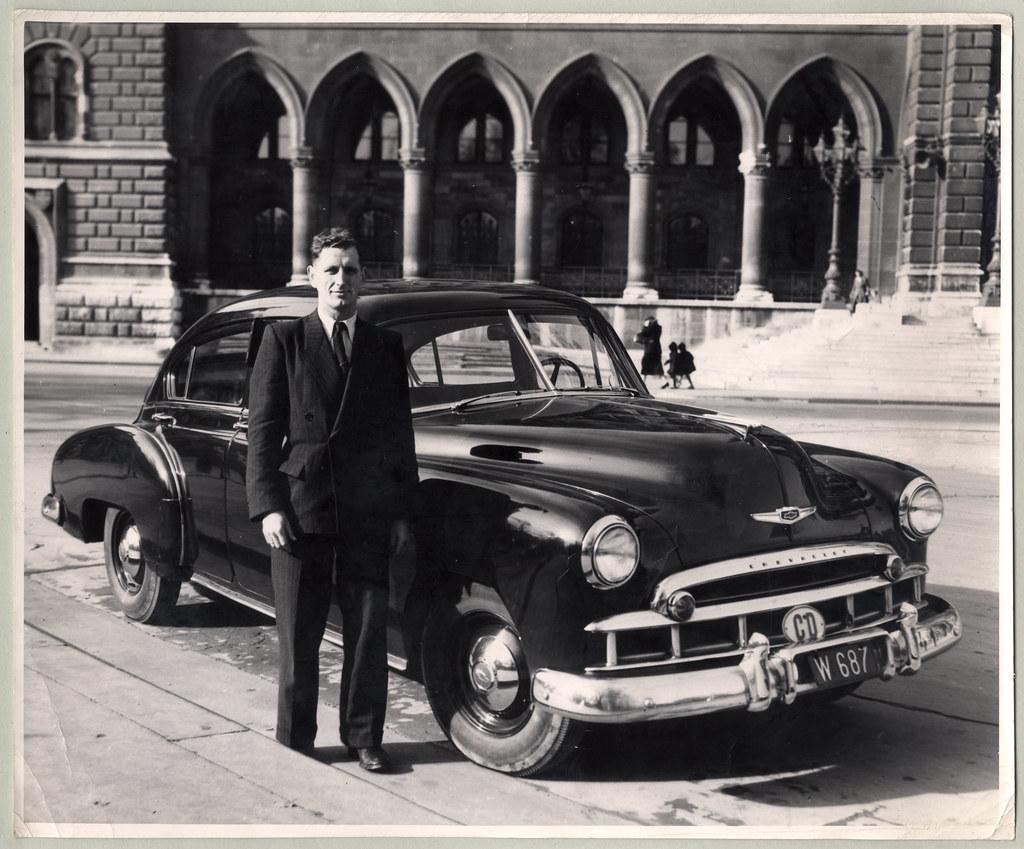 1949 chevrolet fleetline 4 door sedan a man in a double for 1949 chevy 4 door sedan