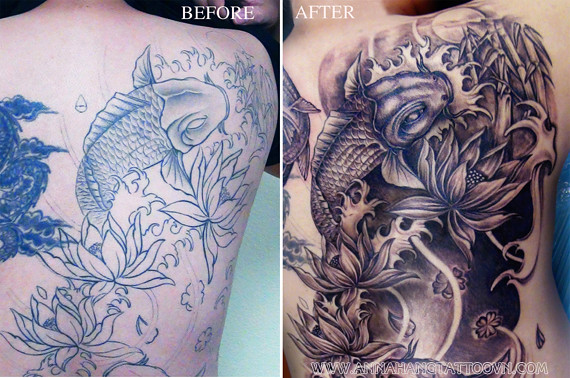 tattoo design cover up full back in progress annahangtattoo flickr. Black Bedroom Furniture Sets. Home Design Ideas