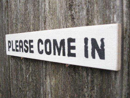 please come in sign small door sign shabby chic style pl