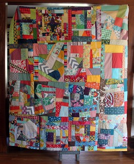 Scrappy Improv Quilt Top | by maureencracknell
