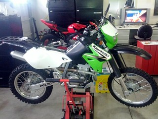 The KLX in sick bay.  :-(  Hope to have her trail surfing soon... | by PaulRey