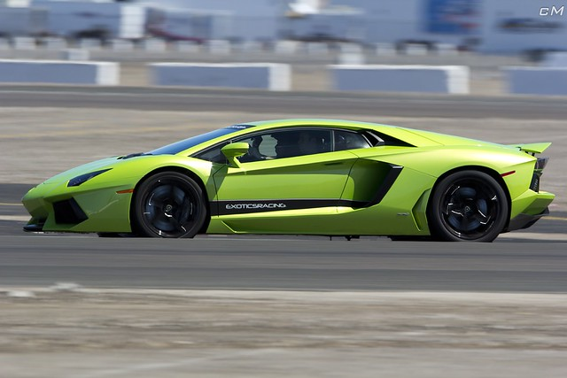 Lime Green Lamborghini Aventador 3