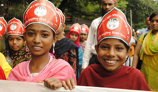 Girls walking in the Girl Child Day celebration 2011 | by The Hunger Project