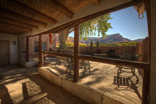 ghost house patio with skull and chili u0026 39 s at ghost ranch
