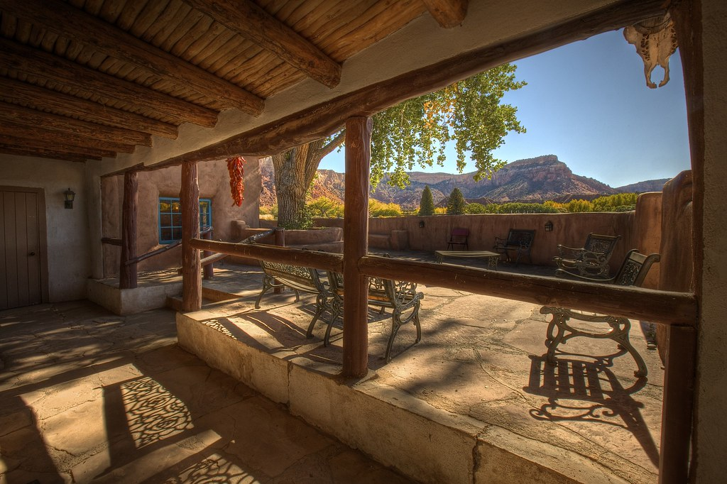 Ghost House Patio with Skull and Chili's at Ghost Ranch | Flickr