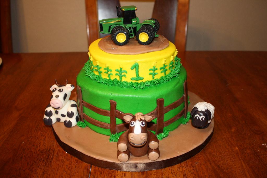 John Deere 1st Birthday Cake Flickr