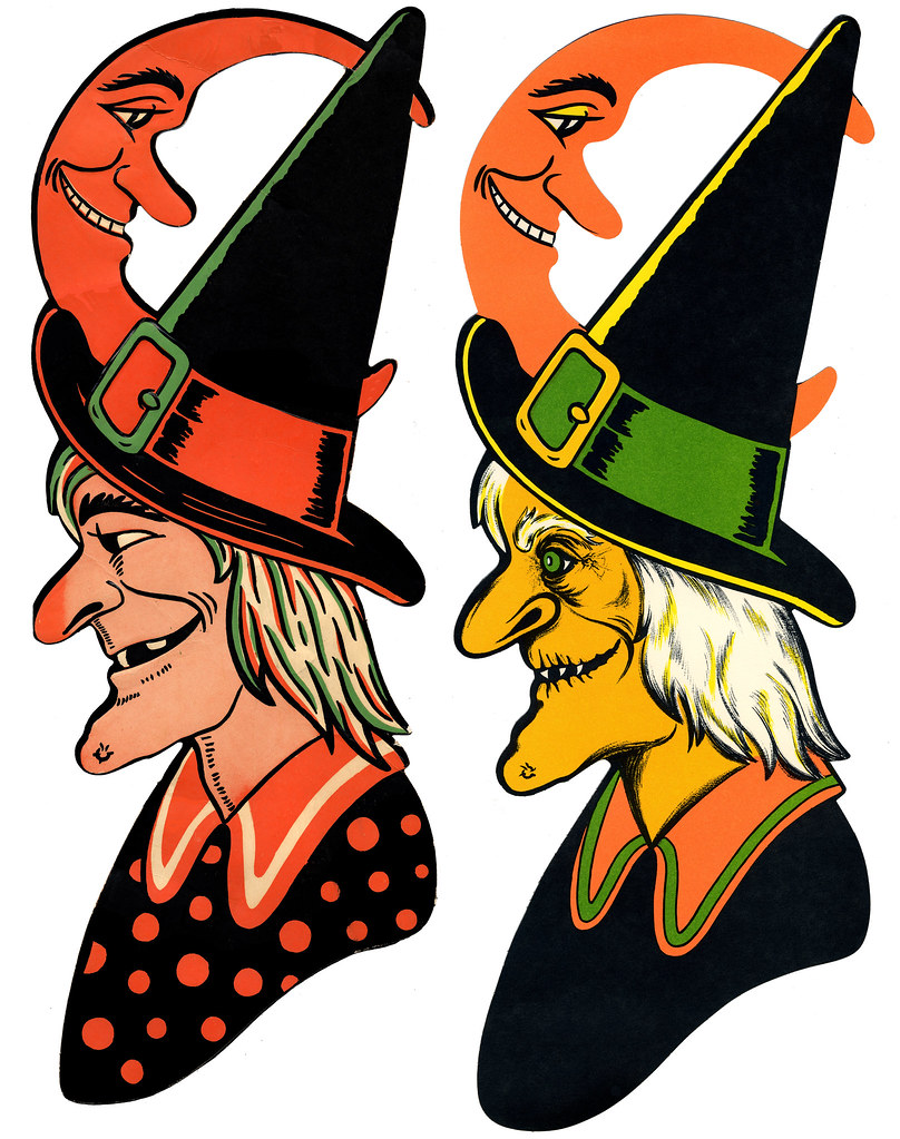 Vintage beistle halloween decorations -  Luhrs Beistle Witch Decorations By Halloween_guy
