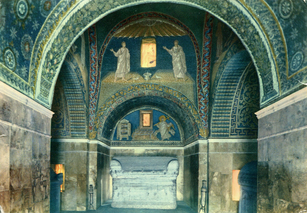 Ravenna Galla Placidia Mausoleum Interior Postcard