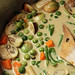 Thai green curry vegetables