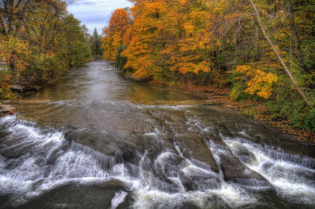 Week 43 - Canadaway Creek in Fredonia | The rapids near ...