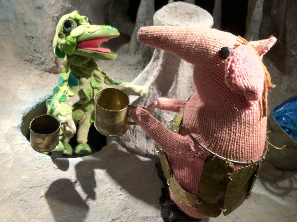 Soup Dragon Knitting Pattern Free : The Soup Dragon and a Clanger Original puppets by ...