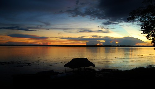 Sunset in the Amazon... | by jametoro