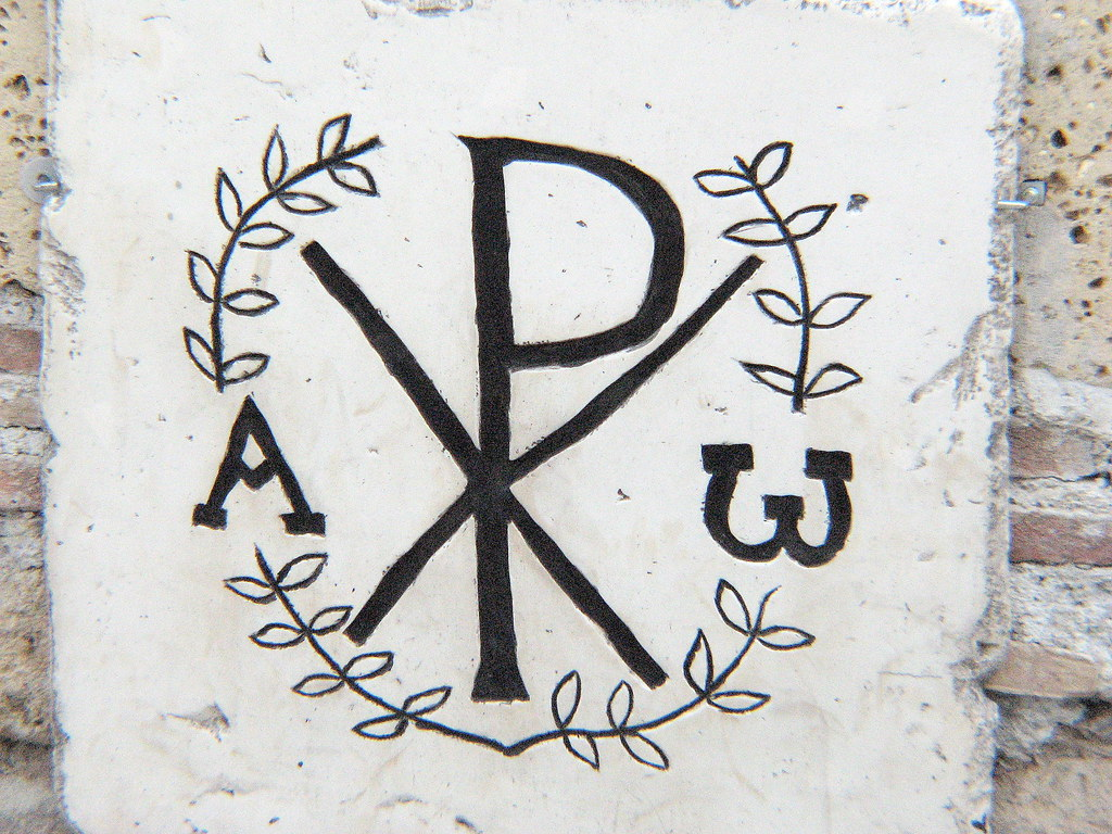 early christian symbols monogram of christ domitilla