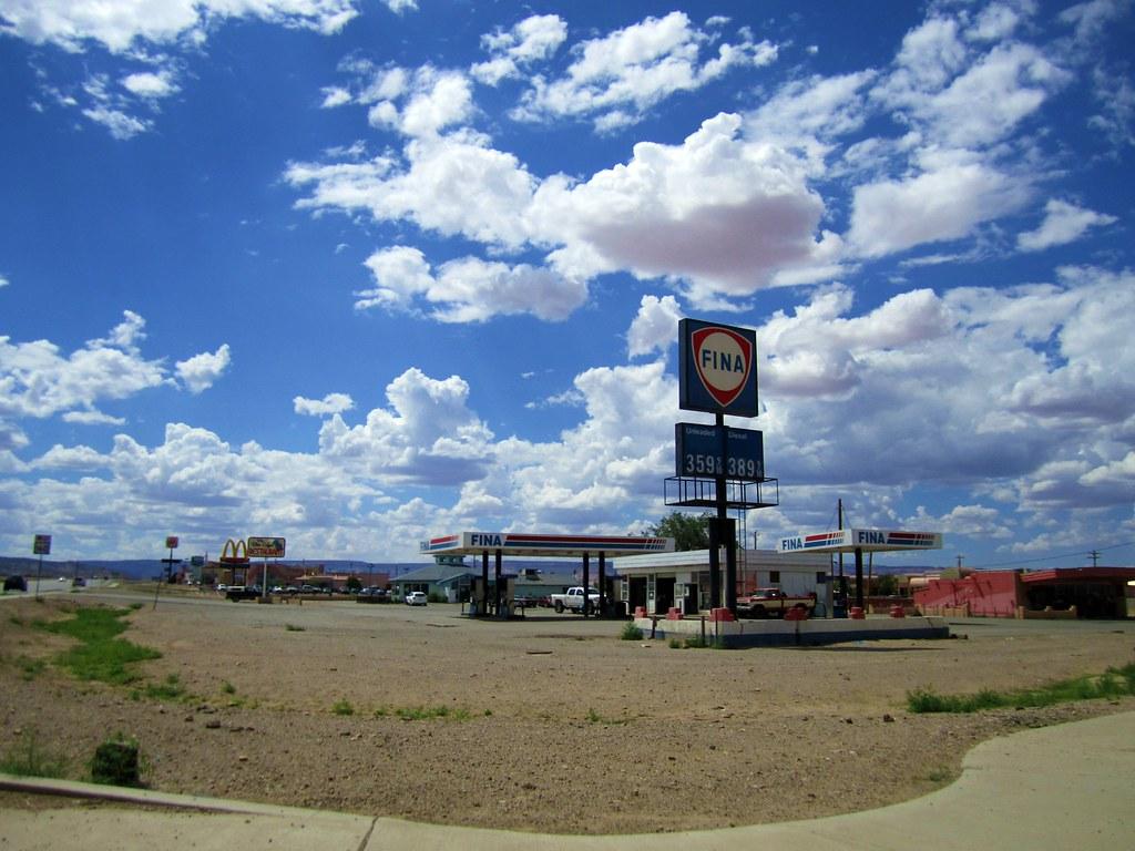 M Logo 3d gas station in Kayenta...