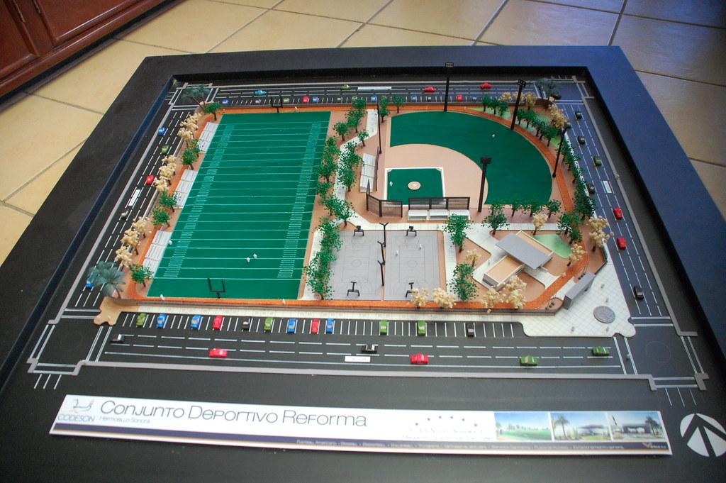 Maqueta de cómo va quedar la Unidad Deportiva Ley 57 | Flickr