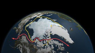 Arctic Sea Ice Continues Decline, Hits 2nd-Lowest Level | by NASA Goddard Photo and Video