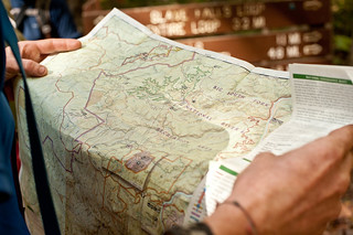 Pete & Map of Big South Fork National River Recreation Area | by goingslowly