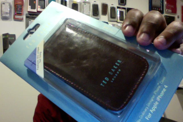 c99925232 ... Ted Baker Leather Style iPhone 4 4S Case