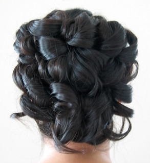 indian-hair-formal-updo | by vanmobilehair
