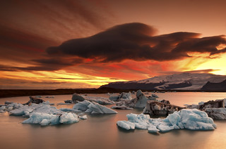 Iceland - Sunset at Jökulsárlón (Glacier Lagoon) | by © Saleh AlRashaid / www.Salehphotography.net