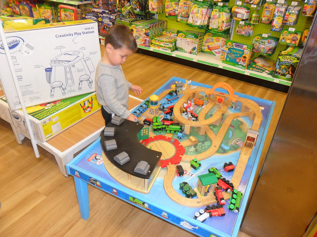 Playing With The Thomas Train Table At Toys R Us Jason