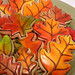 Airbrushed leaves