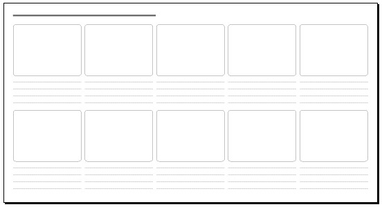 10 Frame Storyboard 30 X 16 In Storyboard Template Pdf V Flickr